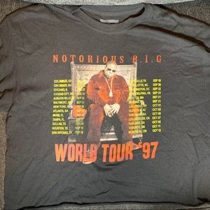 Tops - Biggie Smalls world tour crop top size L